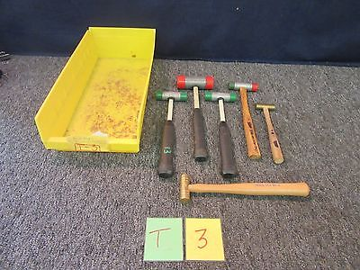 6 Assorted Nupla Rubber Head Mallet Grace Brass Non Spark Hammer Dead Blow Used