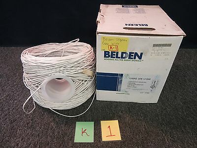 Spool Belden Telephone Cable 24 Awg 2 Pair Data Twist U1000 Cat 3 Unishield New