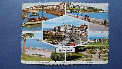 Old Postcard Multi-view BANGOR Co.Down Valentines RT.356 real photograph