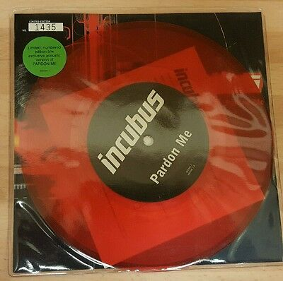 """Incubus 'pardon Me' 7"""" Numbered Red Vinyl Single"""
