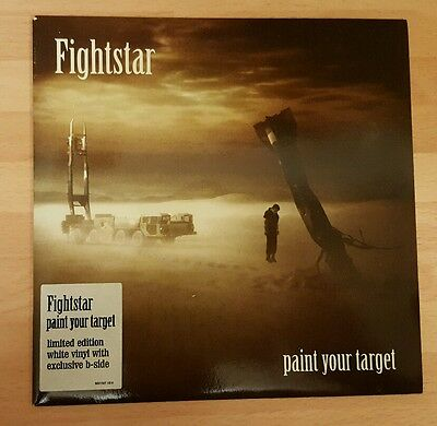"Fightstar 'paint Your Target' 7"" White Numbered Vinyl Single"