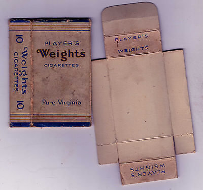 An Empty Vintage Players Weights Cigarette Packet
