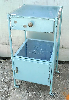 Vintage Hospital Bedside Cabinet 1960S   (Retro,industrial,shabby Chic)
