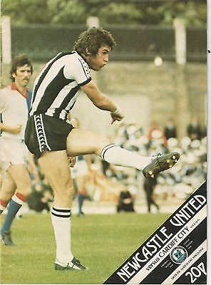 Newcastle United v Cardiff City, 28 October 1978, Division 2