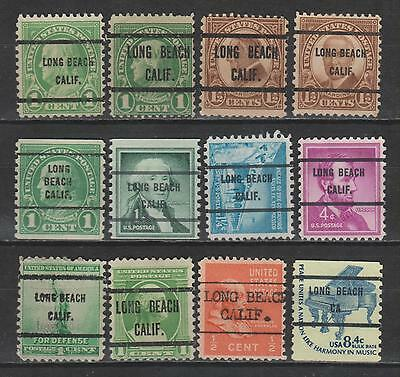 California Specialized Precancels - Long Beach, 12 Stamps