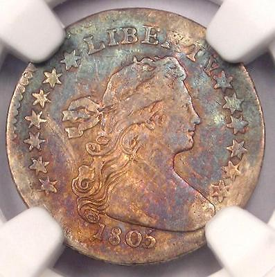 1805 Draped Bust Half Dime H10C Coin LM-1 - Certified NGC VF Details - Rare Coin