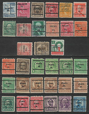 USA - Georgia Precancels Group of 54 Stamps (2 scans)