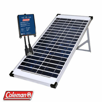Coleman 40W  12 Volt Folding Solar Panel Kit with Stand + 7.5 Amp charge