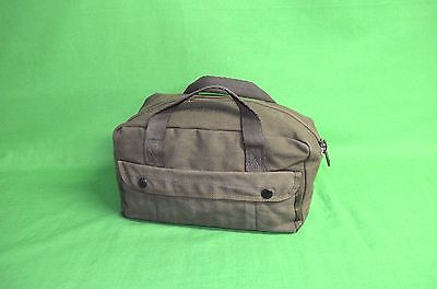 Military Mechanics Tool Bag Heavy Canvas OD Green 11x5x6 NSN:5140-00-329-4306