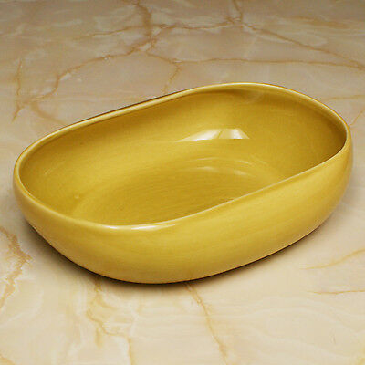 "Vintage Russel Wright American Modern Chartreuse 10"" Vegetable Bowl"