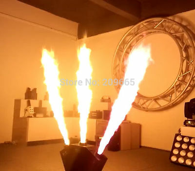 Complete Pyrotechnic 4 Tri-Canon Fire Machine Setup + Fuel! (See Video)