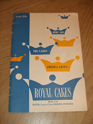 VINTAGE 1950 PROMO Royal Cakes Cream Tartar Baking Powder Recipe Book Standard