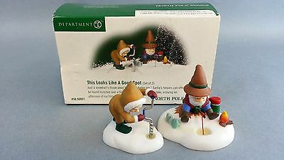 Dept 56 North Pole  Accessory  This Looks Like A Good Spot 56831
