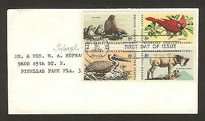 "US Stamps - Scotts 1467a, 8c ""Wildlife Conservation"" FDC"