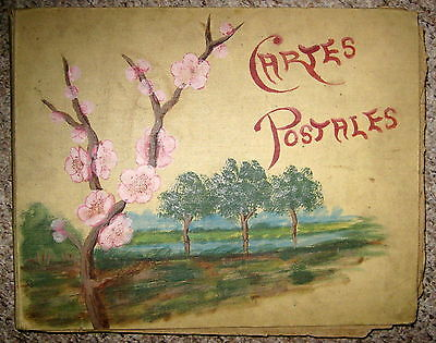 French Postcard Album Carte Postale - Approx 130 cards