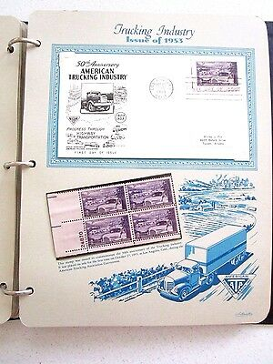 34 Page Postage Stamp Book First Day Issue Stationary 1953-54 Vintage US Canada