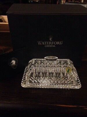 Waterford Crystal Lismore Covered Butter Dish Mint Condition With Box