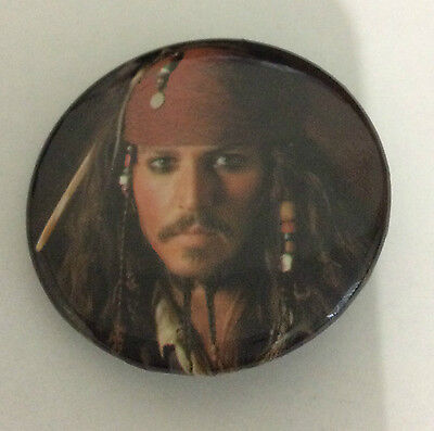 PIRATES OF THE CARIBBEAN 1.5-inch BADGE Button Jack Sparrow NEW OFFICIAL MERCH