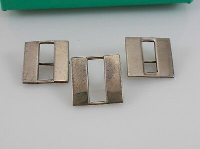 Vintage H-H Sterling Silver Lot of 3 Captain's Bars US Military Pins