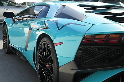 2016 Lamborghini Aventador SV in Blu Glauco with only 1,599 miles! 2016 LAMBORGHINI AVENTADOR SV COUPE RARE BLU GLAUCO WITH NERO COLOR LOW MILES