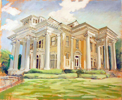 "TIM LAUER, ART, Audubon Place, New Orleans, OIL painting 20"" x 24"""