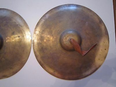 Musical instrument. Orchestral cymbals. THE USSR.