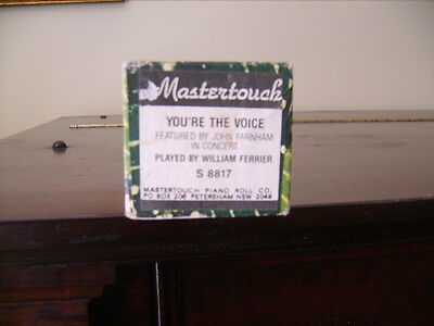 """""""YOUR THE VOICE"""" by John Farnham Pianola roll"""
