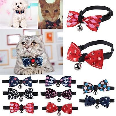 Adjustable Dog Cat Pet Bow Tie With Bell Puppy Kitten Necktie Collar Lovely Gift