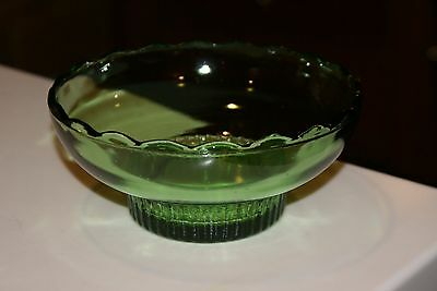 Vintage  EO BRODY Co EMERALD GREEN Glass Bowl/Candy Dish Cleveland O USA