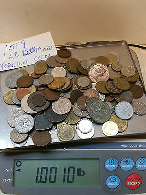 1 Pound Mixed Foreign Coins  Lot #9