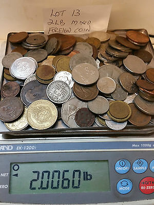 2 Pound Mixed Foreign Coins  Lot #13