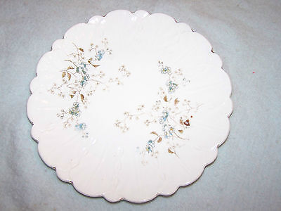 vintage luncheon plate flowes and scallop edges carlsbad austria