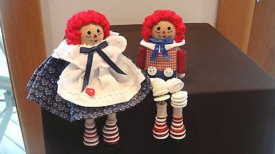 Vintage Raggedy Ann And Andy Dolls - Late 1960's