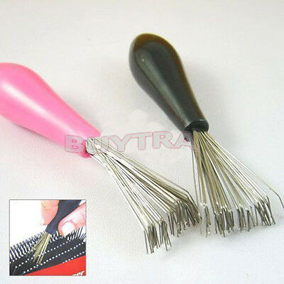Comb Hair Brush Cleaner Cleaning Remover Embedded  Tool Plastic Handle
