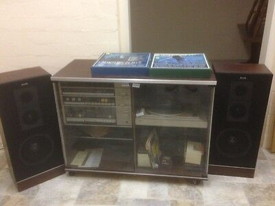 Vintage Phillips Radiogram  and speakers