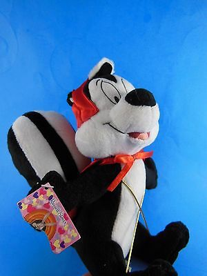 """Valentines Day Pepe Le Pew Plush 10"""" Russel Stover Warner Bros No Candy"""
