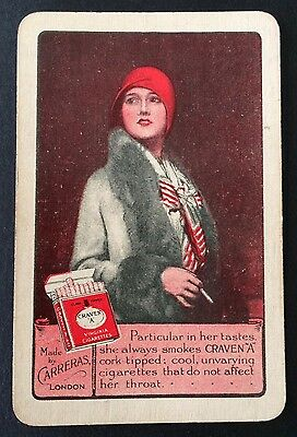 Vintage Swap / Playing Card - ADVERTISING LADY - CRAVEN A CIGARETTES