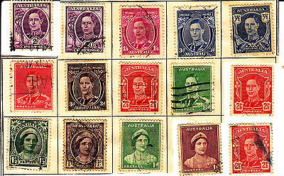 Australia 16 King And Queen Stamps