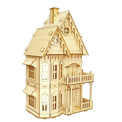 3D Jigsaw Puzzels Woodcraft Gothic Architecture for Kids 6+ and Adults