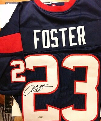 ARIAN FOSTER Signed Jersey Leaf Authenticated Autograph Houston TEXANS