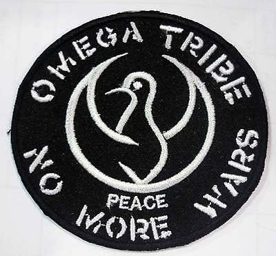 OMEGA TRIBE embroidred patch logo Conflict Crass Flux Of Pink Indian Amebix