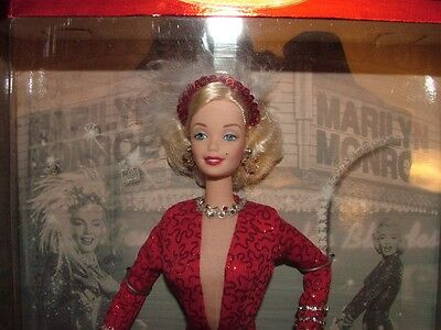 Marilyn Monroe red gown 1997 Barbie Doll
