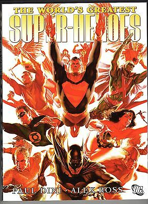 The World's Greatest Super-Heroes by Alex Ross OOP (2010, Paperback, Deluxe) NEW