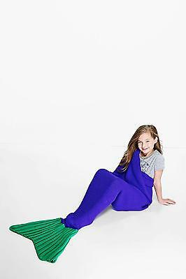 Boohoo Womens Girls Mermaid Tail Blanket in Purple size One Size