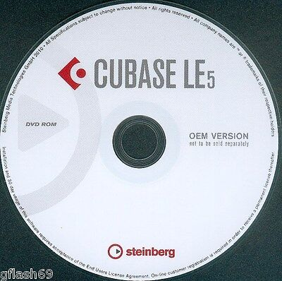 Cubase 5 Le   48  It is the Ultimate Recording Studio  !!! Comes on a DVD