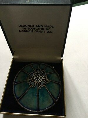 Hallmarked Sterling Silver And Enamel Norman Grant Broach