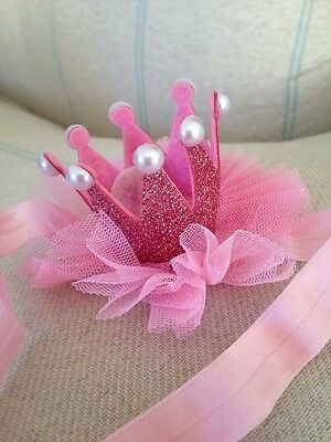 Pink  Baby Crown . Fancy Mini Baby Crown . Princess Crown . U.K. Seller