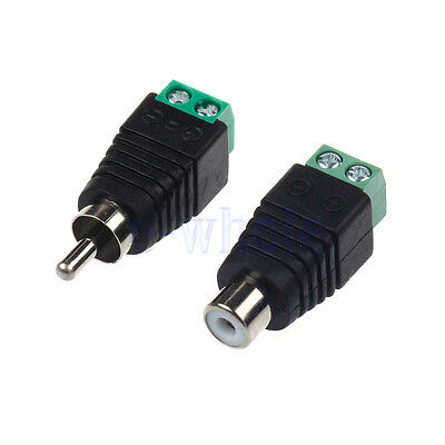 20pcs speaker wire cable to audio male female rca connector Speaker Wire Harness Male Female Plugs pair speaker wire cable to female male rca connector adapter jack plug hm speaker wire male/female connectors