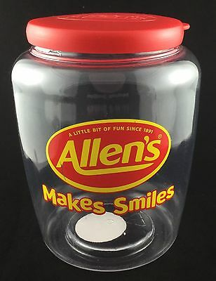 Allens Makes Smiles Collectable Australian Lolly Jar Confectionary Bottle