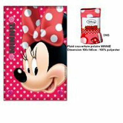 Plaid couverture polaire Minnie